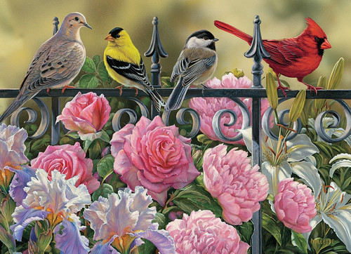 """""""Birds on a Fence"""" 1000 Piece Jigsaw Puzzle 