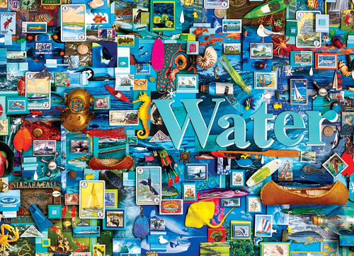 """Water"" 1000 Piece Jigsaw Puzzle (Elements Collection) 