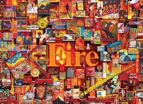 """Fire"" 1000 Piece Jigsaw Puzzle (Elements Collection) 
