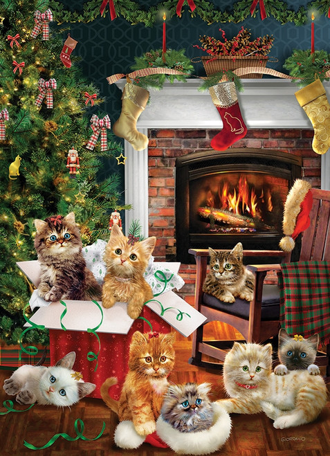 """Christmas Kittens"" 1000 Piece Jigsaw Puzzle 