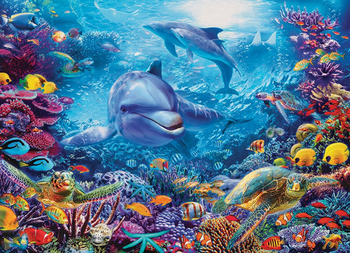 """Dolphins at Play"" 1000 Piece Jigsaw Puzzle 