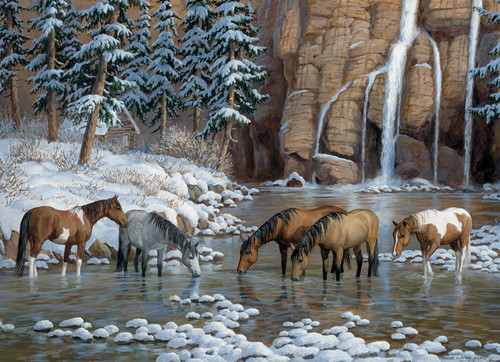 """Spirit of the Rockies"" 1000 Piece Jigsaw Puzzle (Rainbow Collection) 