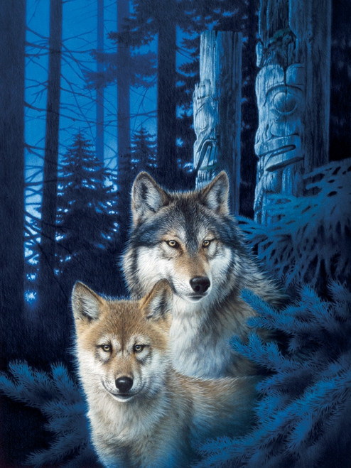 """Wolf Canyon"" 1000 Piece Jigsaw Puzzle (Rainbow Collection) 