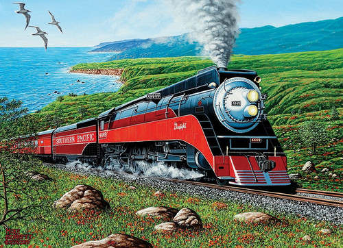 """""""Southern Pacific"""" 1000 Piece Jigsaw Puzzle (Rainbow Collection) 