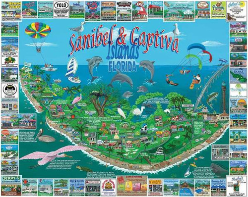 """Sanibel & Captiva Islands"" 1000 Piece Jigsaw Puzzle 
