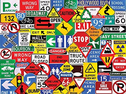 """Road Signs"" 550 Piece Jigsaw Puzzle 
