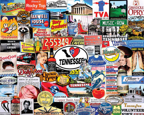 """I Love Tennessee"" 1000 Piece Jigsaw Puzzle 