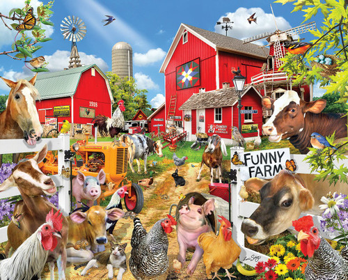 """Funny Farm Seek & Find"" 1000 Piece Jigsaw Puzzle 