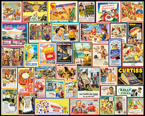 """""""Great Old Ads"""" 1000 Piece Jigsaw Puzzle 