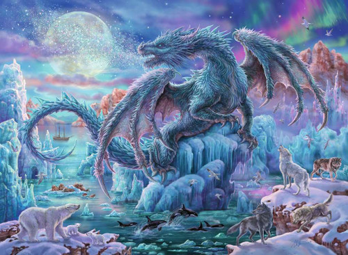 """Mystical Dragons"" 500 Piece Jigsaw Puzzle 