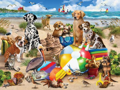 """Beach Buddies"" 550 Piece Jigsaw Puzzle | White Mountain"