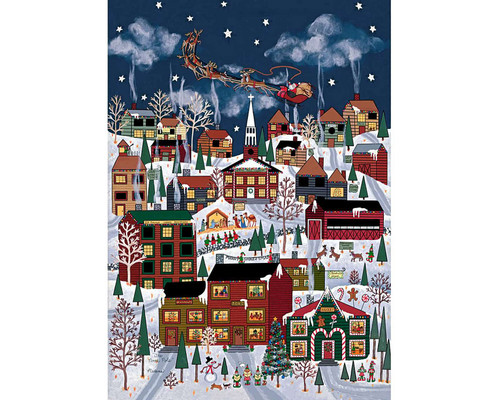 """""""The North Pole"""" *Pre-Owned* 1000 Piece Wentworth Wooden Jigsaw Puzzle"""