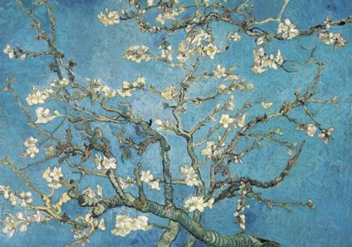 """""""Almond Blossom 1890"""" *Pre-Owned* 321 Piece Extra Difficult Cut Wentworth Wooden Jigsaw Puzzle"""