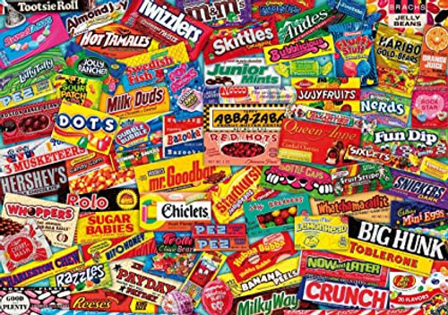 """""""Crazy Candy"""" *Pre-Owned* 260 Piece Extra Difficult Cut Wentworth Wooden Jigsaw Puzzle"""