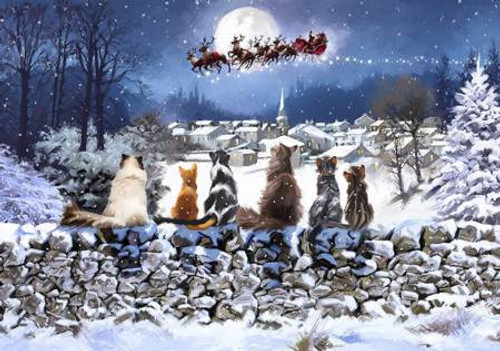 """""""Christmas Cats"""" 500 Piece Wentworth Wooden Jigsaw Puzzle"""