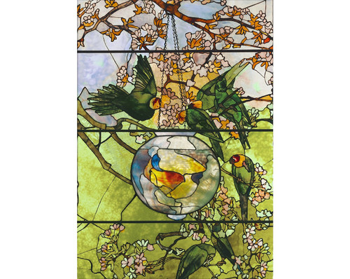 """""""Parakeets and Gold Fish Bowl"""" 500 Piece Wentworth Wooden Jigsaw Puzzle"""