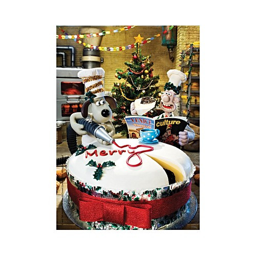 """""""Wallace & Gromit Christmas Cake"""" 500 Piece Wentworth Wooden Jigsaw Puzzle"""