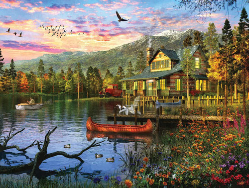 """""""Sunset Cabin"""" 550 Piece Jigsaw Puzzle 