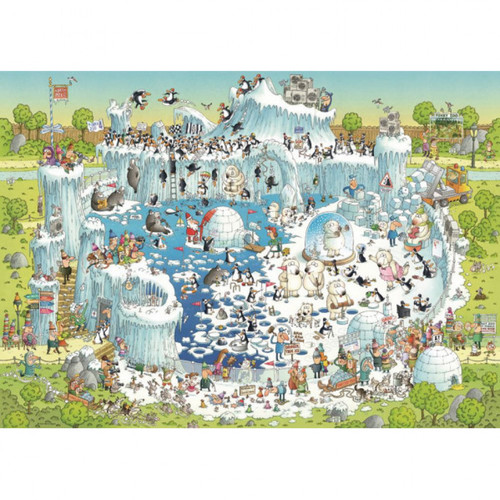 """""""Polar Forest Habitat"""" *Funky Zoo Series* 1000 Piece Jigsaw Puzzle   Heye"""