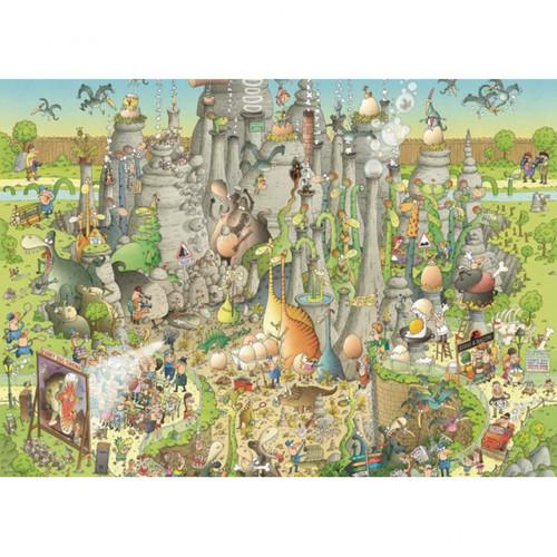 """Jurassic Habitat"" *Funky Zoo Series* 1000 Piece Jigsaw Puzzle | Heye"