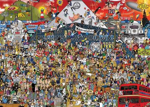 """British Music History"" 2000 Piece Jigsaw Puzzle | Heye"