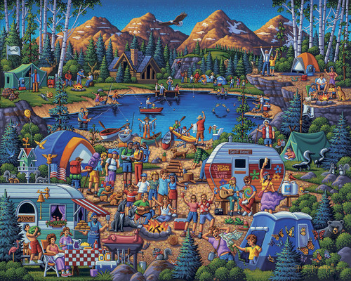"""""""Camping Adventure"""" 1000 Piece Jigsaw Puzzle 