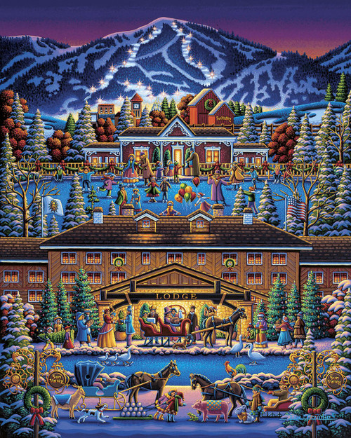 """Sun Valley Holiday"" 500 Piece Jigsaw Puzzle 