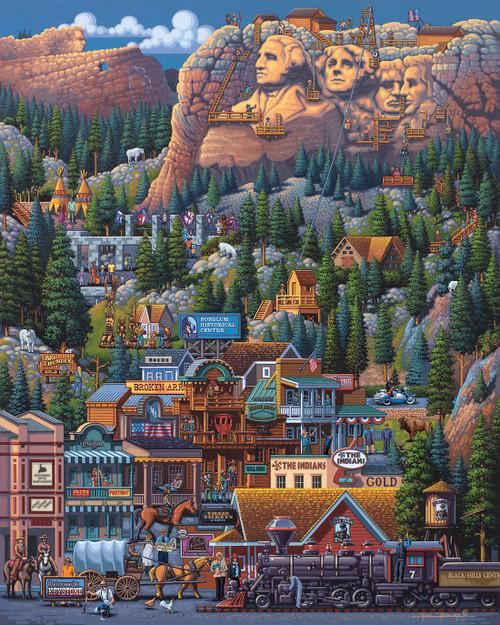 """The Black Hills"" 1000 Piece Jigsaw Puzzle   Dowdle"