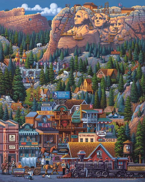"""The Black Hills"" 1000 Piece Jigsaw Puzzle | Dowdle"