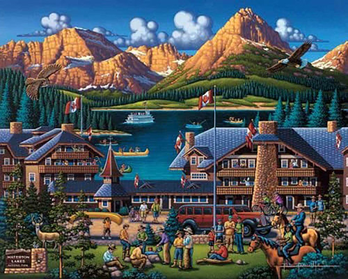 """Waterton Lakes"" 500 Piece Jigsaw Puzzle 