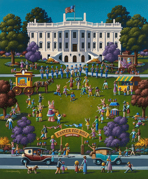 """White House Easter"" 500 Piece Jigsaw Puzzle 