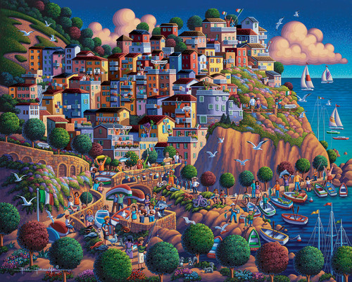 """Italy's Cinque Terre"" 500 Piece Jigsaw Puzzle 