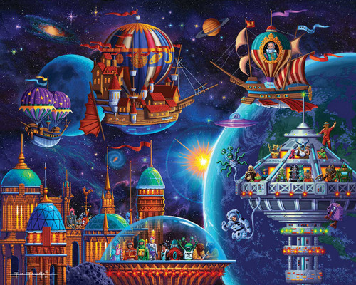 """Space Adventure"" 500 Piece Jigsaw Puzzle 