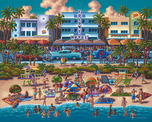 """South Beach"" 500 Piece Jigsaw Puzzle 