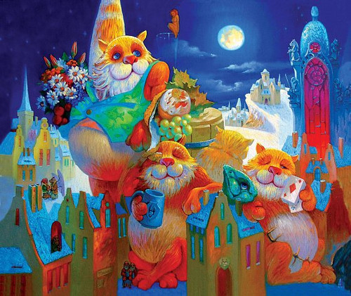 """Full Moon Feast"" 195 Piece Premium Wooden Jigsaw Puzzle 