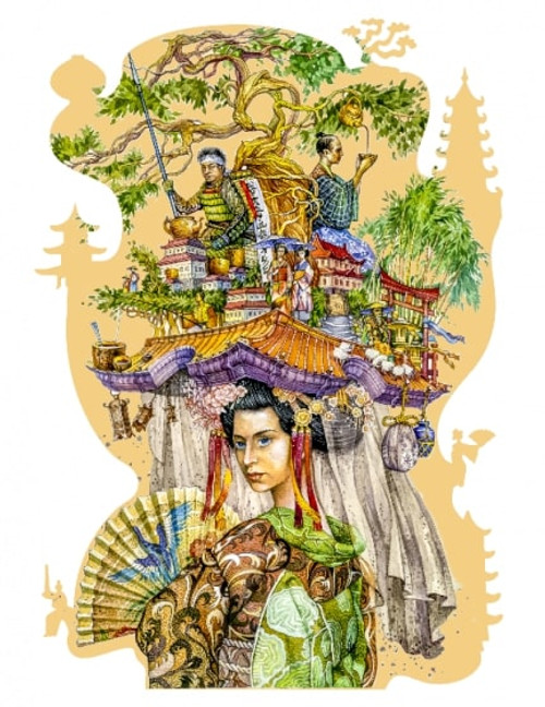 """Japan"" 195 Piece Premium Wooden Jigsaw Puzzle | DaVICI"