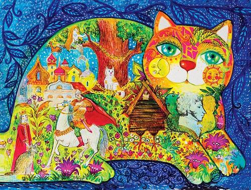"""Pushkin's Fairy Tales"" 300 Piece Premium Wooden Jigsaw Puzzle | DaVICI"