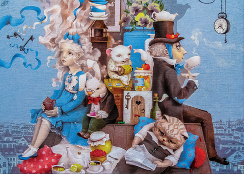 """Mad Tea Party"" 350 Piece Premium Wooden Jigsaw Puzzle 