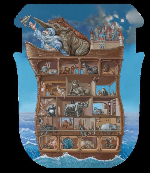 """Noah's Ark"" 210 Piece Premium Wooden Jigsaw Puzzle | DaVICI"