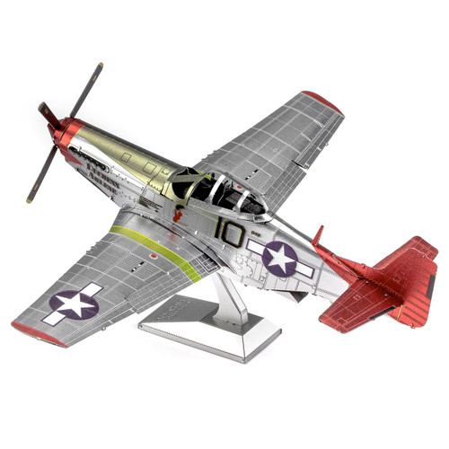 """Duchess Arlene"" Iconx Tuskegee Airmen P-51D Mustang Metal Model Kit | Metal Earth"