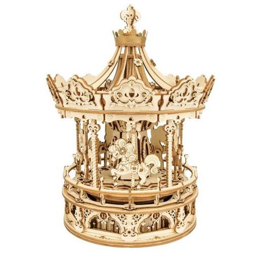 Romantic Carousel Wooden Music Box Kit | AMK62 | Rokr