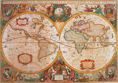 """""""Old Map"""" 1000 Piece Jigsaw Puzzle 