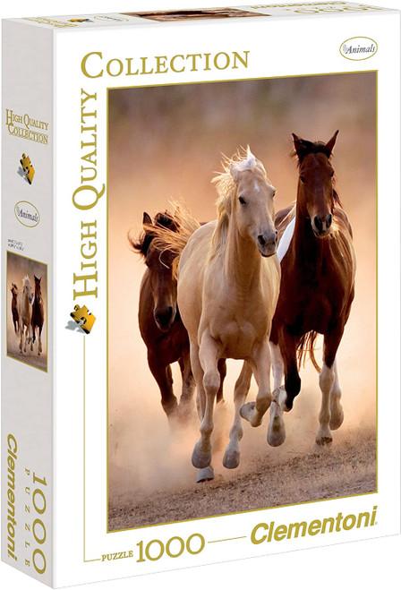 """Running Horses"" 1000 Piece Jigsaw Puzzle | Clementoni"