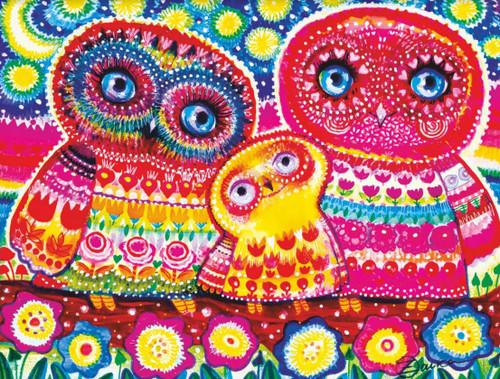 """Owls"" 120 Piece Premium Wooden Jigsaw Puzzle | DaVICI"