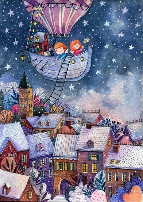 """Christmas Stories"" 80 Piece Premium Wooden Jigsaw Mini Puzzle   DaVICI"