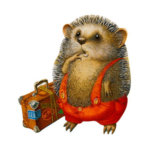 """Travelling Hedgehog"" 30 Piece Premium Wooden Jigsaw Mini Puzzle 