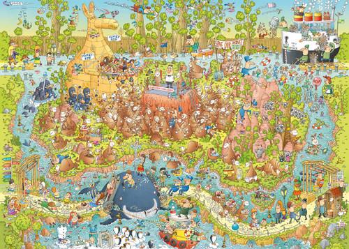 """Australian Habitat"" *Funky Zoo Series* 1000 Piece Jigsaw Puzzle | Heye"