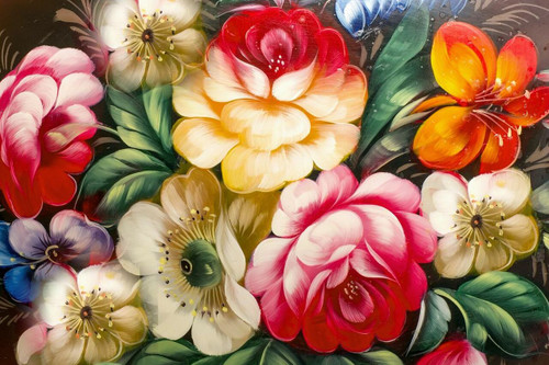 """""""Bountiful Bouquet of Flowers"""" 450 Piece *Whimsy Cut* Wooden Jigsaw Puzzle 