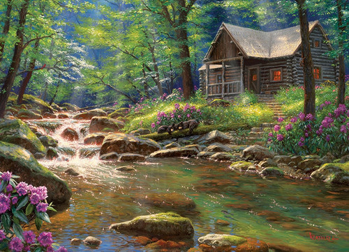 """Fishing Cabin"" 1000 Piece Jigsaw Puzzle 