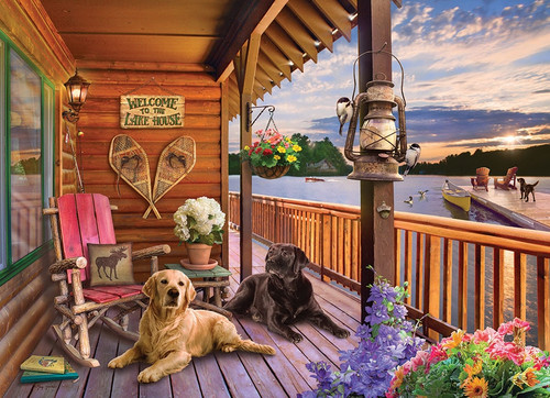 """Welcome to the Lake House"" 1000 Piece Jigsaw Puzzle 